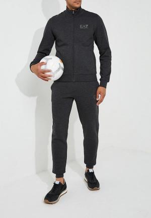 Костюм спортивный EA7. Цвет: серый