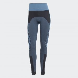 Леггинсы by Stella McCartney TruePurpose Seamless adidas. Цвет: черный