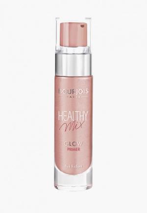 Праймер для лица Bourjois Healthy Mix Glow, 1 Pink Radiant, 15 мл. Цвет: розовый
