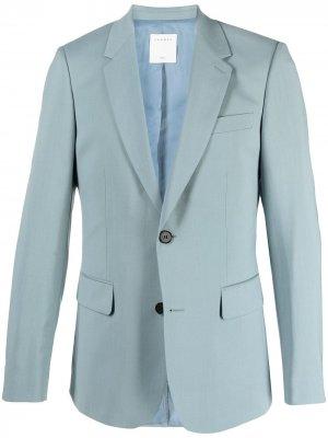Однобортный пиджак строгого кроя Sandro Paris. Цвет: синий