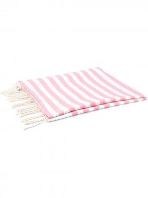 Пляжное полотенце в полоску Mc2 Saint Barth. Цвет: розовый