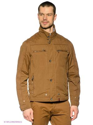 Куртка Gate One. Цвет: коричневый