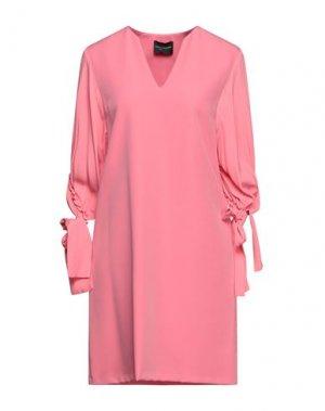 Короткое платье ATOS LOMBARDINI. Цвет: розовый