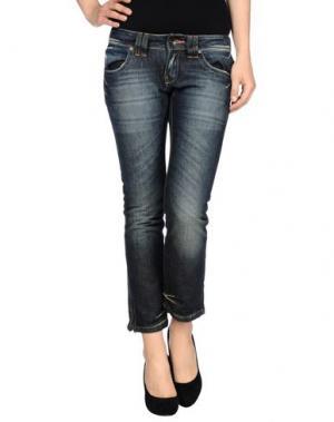 Джинсовые брюки-капри ICHI. Цвет: синий