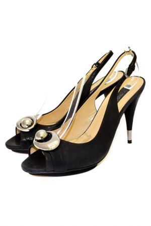 Открытые туфли Essere. Цвет: черный с отливом