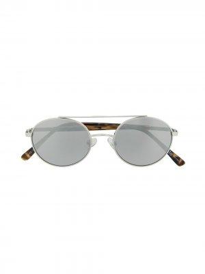 Солнцезащитные очки Suri Molo. Цвет: серебристый
