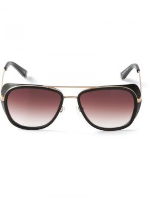 Солнцезащитные очки в квадратной оправе Matsuda. Цвет: черный