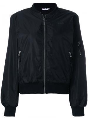 Куртка-бомбер на молнии Fila. Цвет: чёрный