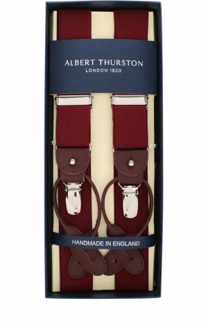 Подтяжки с кожаной отделкой Albert Thurston. Цвет: красный
