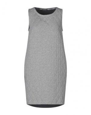 Короткое платье ANDREA TURCHI. Цвет: серый