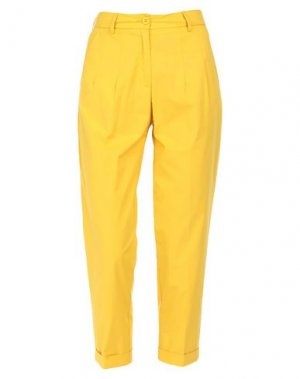 Повседневные брюки BEATRICE. Цвет: охра