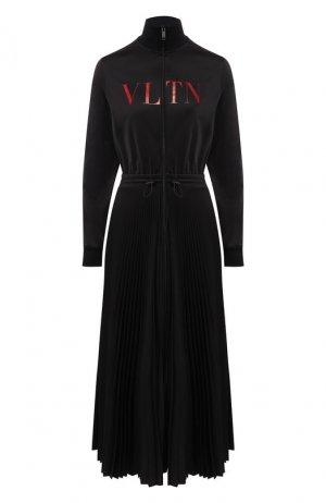 Платье-миди Valentino. Цвет: черный