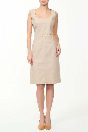 Платье Coccapani. Цвет: коричневый