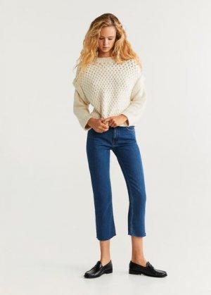 Укороченные джинсы straight - Sayana Mango. Цвет: темно-синий