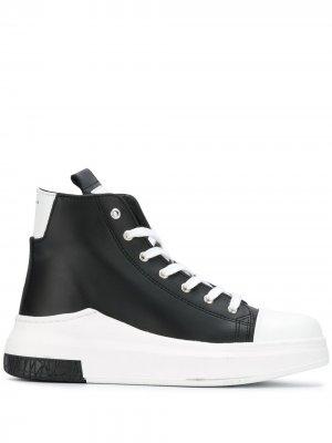Высокие кроссовки на шнуровке Cinzia Araia. Цвет: черный