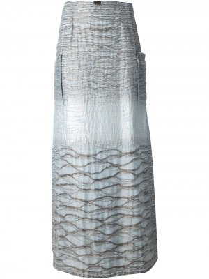 Макси А-образная юбка Jean Louis Scherrer Pre-Owned. Цвет: синий