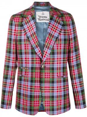 Пиджак в клетку тартан Vivienne Westwood. Цвет: синий