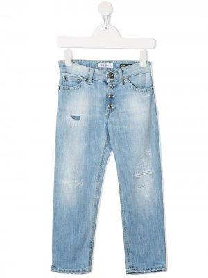 Узкие джинсы средней посадки Dondup Kids. Цвет: синий