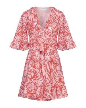 Короткое платье AU JOUR LE. Цвет: оранжевый