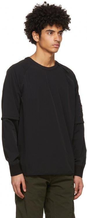 Black Nylon Stretch Double Sweatshirt C.P. Company. Цвет: 999 black