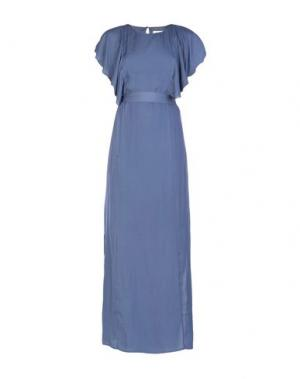 Длинное платье DRY LAKE.. Цвет: грифельно-синий
