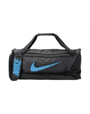 Дорожная сумка NIKE. Цвет: серый