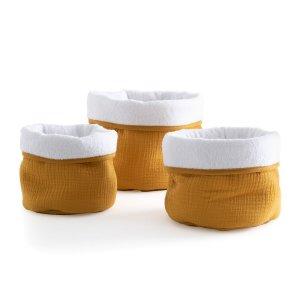 Комплект из 3 корзин LaRedoute. Цвет: желтый
