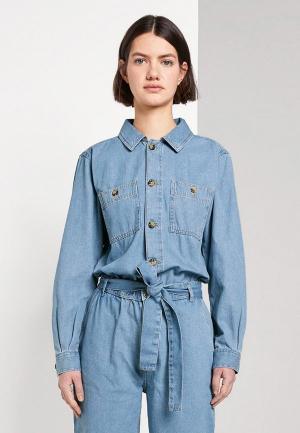 Комбинезон джинсовый Tom Tailor Denim. Цвет: голубой