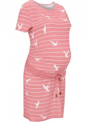 Платье для беременных bonprix. Цвет: розовый