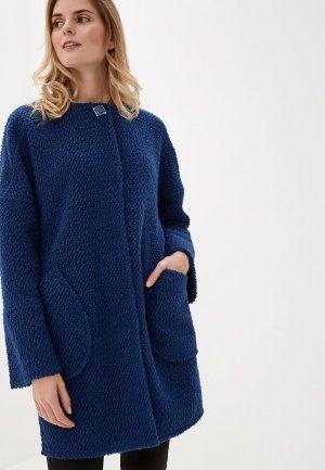 Пальто Argent. Цвет: синий