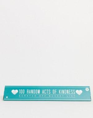 Плакат с 100 действиями -Мульти Gift Republic