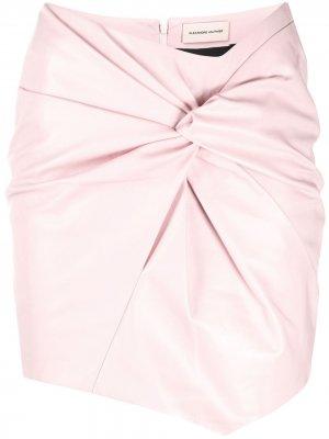 Юбка мини с драпировкой Alexandre Vauthier. Цвет: розовый