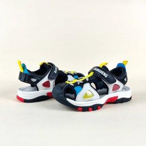 Контрастные спортивные сандалии для мальчиков на липучке SHEIN. Цвет: многоцветный