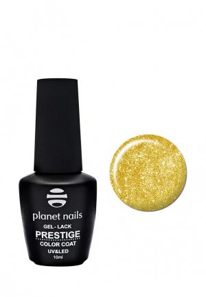 Гель-лак для ногтей Planet Nails PRESTIGE - 568, 10 мл сверкающее золото. Цвет: золотой