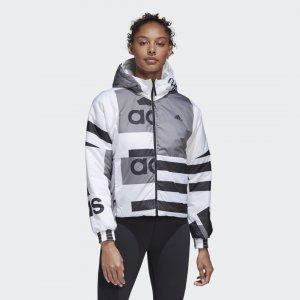 Двухсторонняя утепленная куртка Back to Sport Performance adidas. Цвет: белый