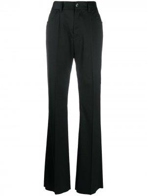 Расклешенные брюки bootcut MM6 Maison Margiela. Цвет: черный