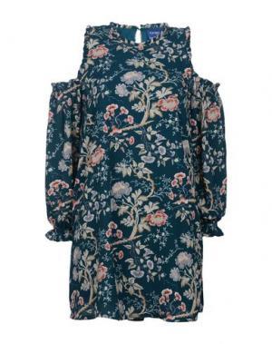 Короткое платье TANTRA. Цвет: темно-зеленый