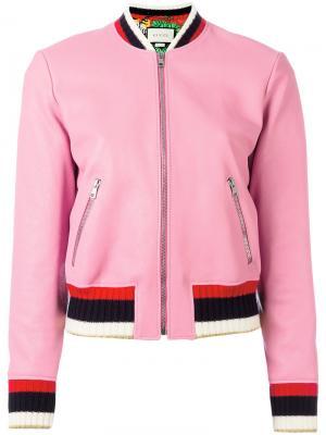 Blind For Love bomber jacket Gucci. Цвет: розовый и фиолетовый