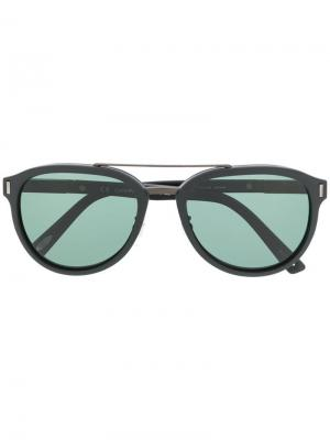 Солнцезащитные очки в круглой оправе Chopard Eyewear. Цвет: черный