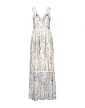 Длинное платье FRACOMINA. Цвет: светло-зеленый