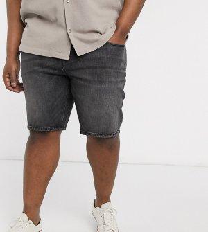 Черные узкие джинсовые шорты Plus-Черный ASOS DESIGN