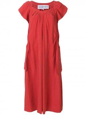 Платье расклешенного кроя Carven. Цвет: красный