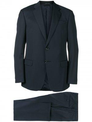 Приталенный костюм-двойка Giorgio Armani. Цвет: синий