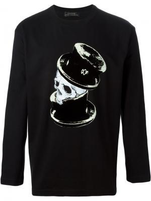 Футболки и жилеты Yohji Yamamoto. Цвет: чёрный