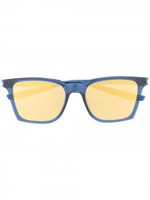 Солнцезащитные очки Bout в квадратной оправе Nike. Цвет: синий