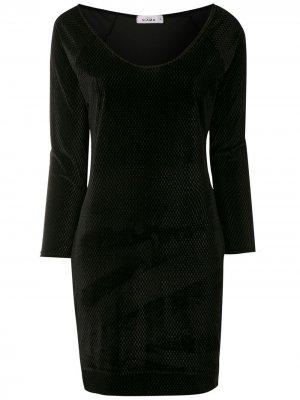 Платье с длинными рукавами Amir Slama. Цвет: черный