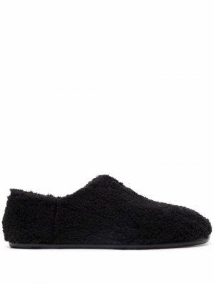 Textured-finish flat-sole slippers Maison Margiela. Цвет: черный