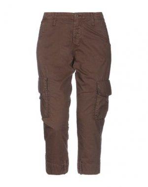 Джинсовые брюки-капри MELTIN POT. Цвет: коричневый