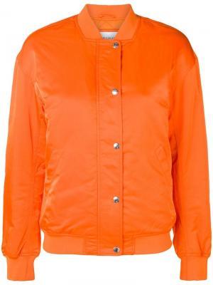 Классическая куртка-бомбер Calvin Klein Jeans. Цвет: желтый