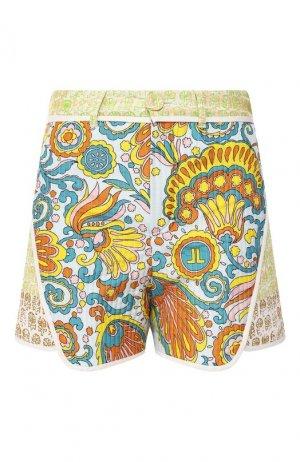 Шелковые шорты Lanvin. Цвет: синий